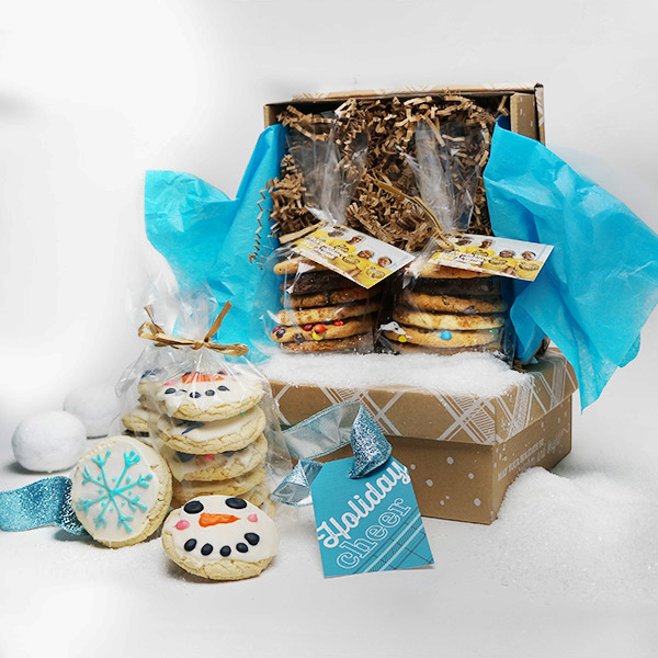 Holiday Cheer Package: 1 dozen bakery sampler & 1 dozen winter hand decorated cookies